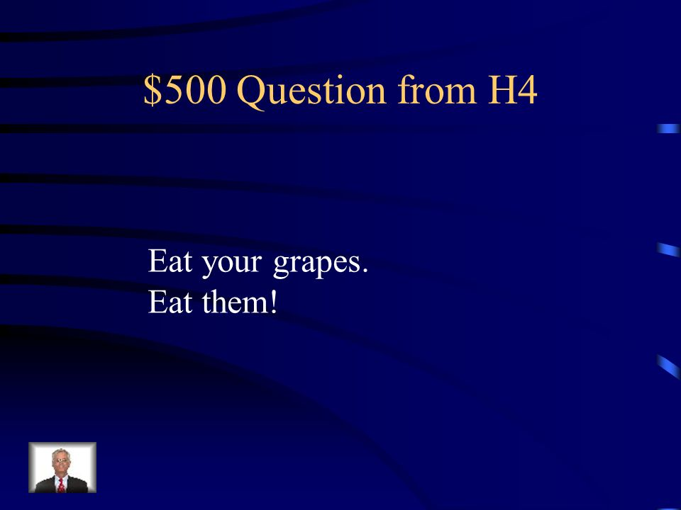 $400 Answer from H4 lo
