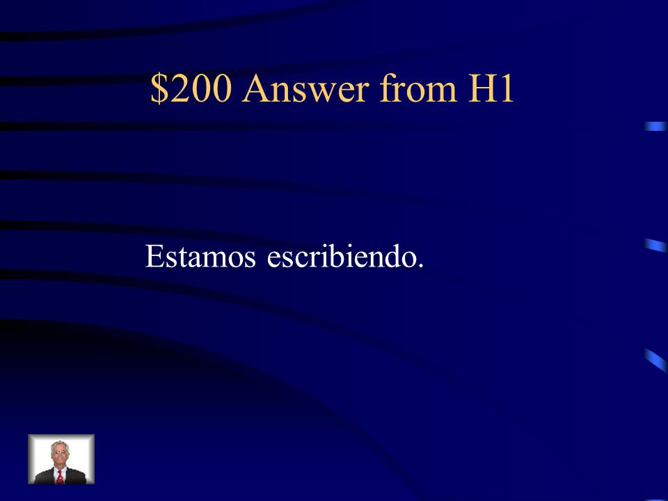 $200 Question from H1 Translate: We are writing.