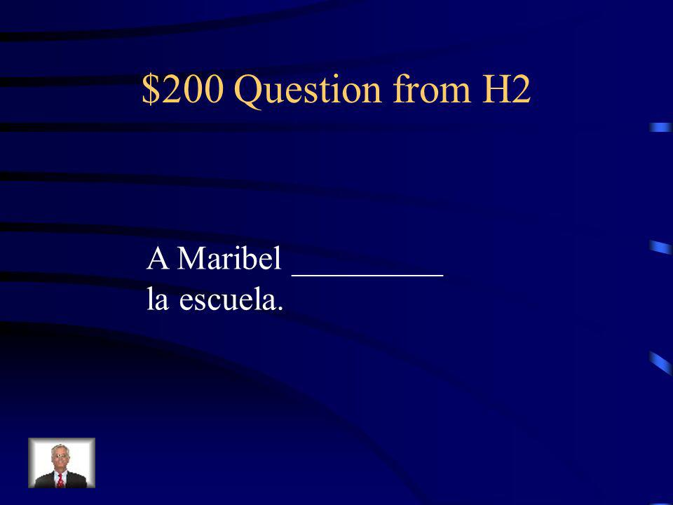 $100 Answer from H2 mi…gustan