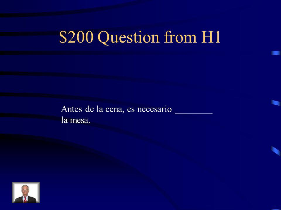 $100 Answer from H1 Pasear en bote