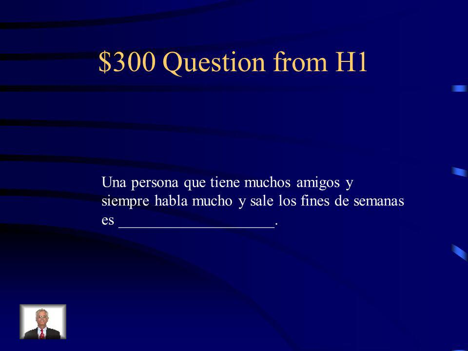 $200 Answer from H1 poner