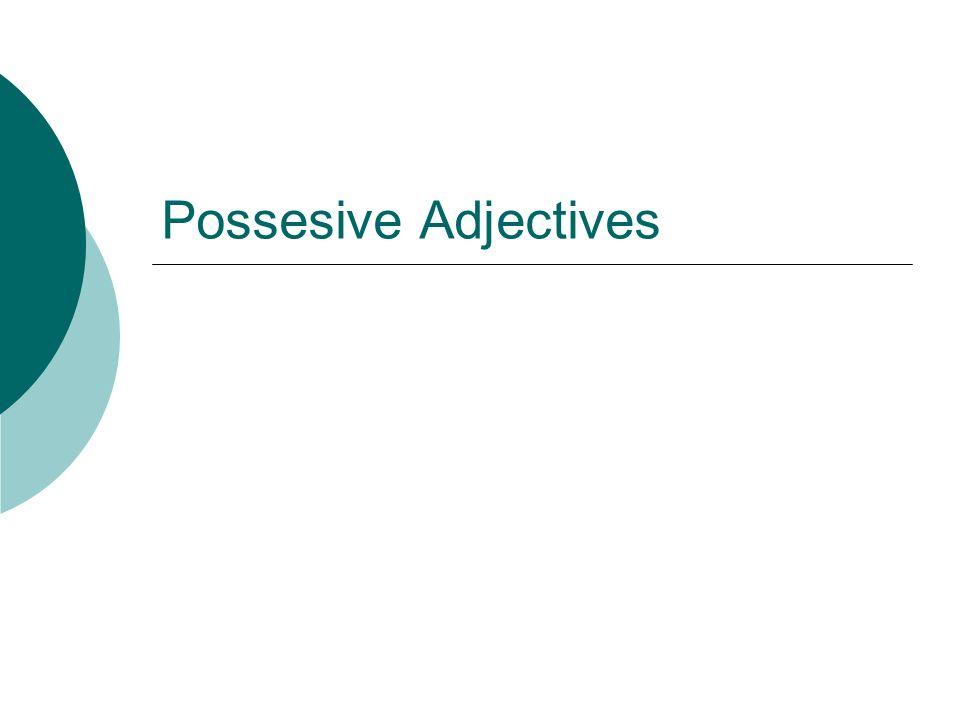 inglés- español: en conexión Possessive adjectives: Tell you who owns something.