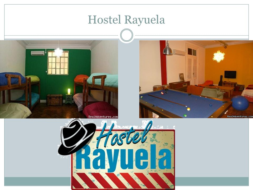 Flight Plan 11:00 am Depart Phoenix (PHX) Arrive Buenos Aires (EZE) 7:45 Sunday Fly out 8 days later Paid for by tax credit Stay at Rayuela Hostel Boutique for 8 nights 8.48/night 8 nights 67.84 per person, for hostel High Safety rate: 96.8 Free breakfast, linens, towels Air conditioning, hot showers and internet Lockers in dorms