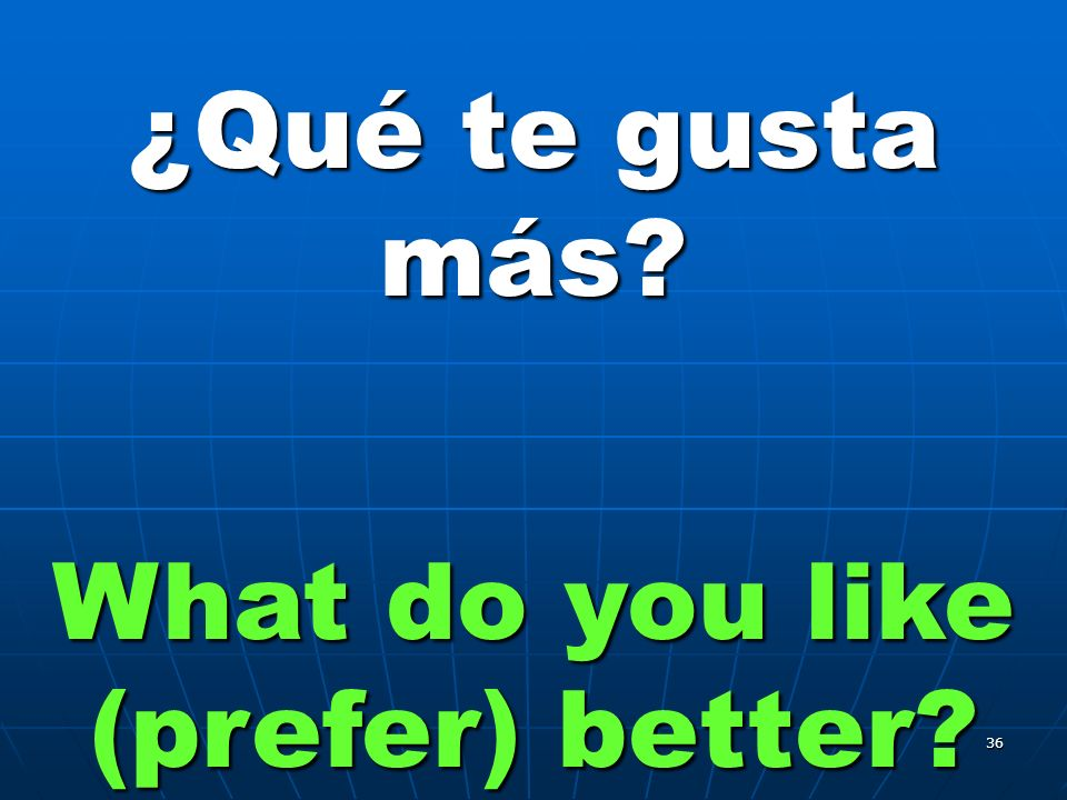 35 ¿Qué te gusta hacer What do you like to do