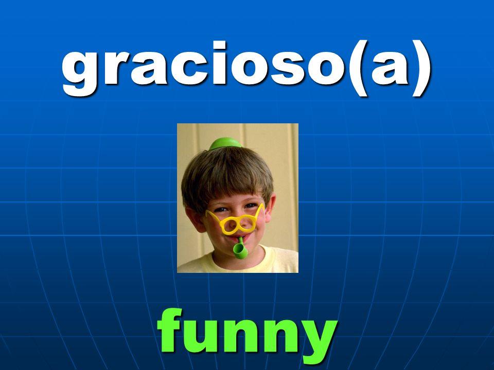 gracioso(a) funny