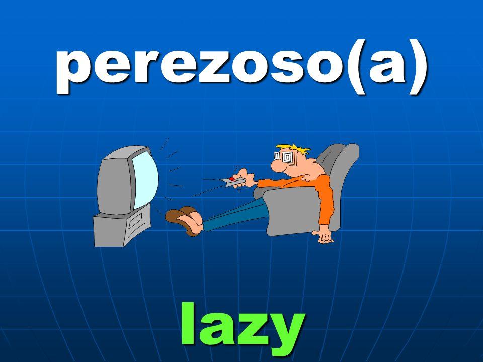 perezoso(a) lazy