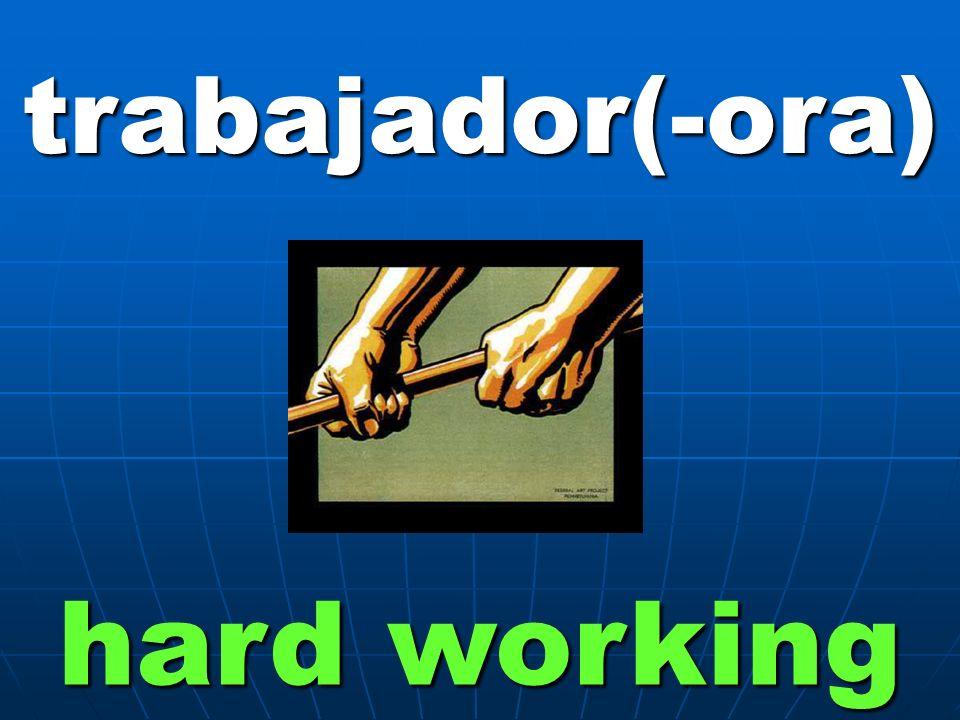 trabajador(-ora) hard working