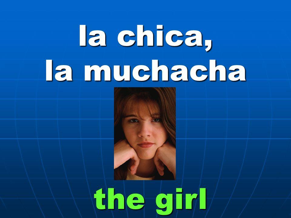 la chica, la muchacha the girl