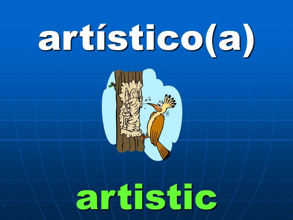 artístico(a) artistic