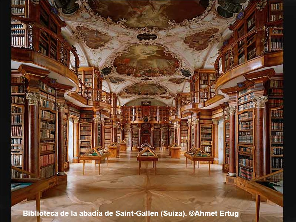 Biblioteca de la abadía de Saint-Florian (Austria). ©Ahmet Ertug