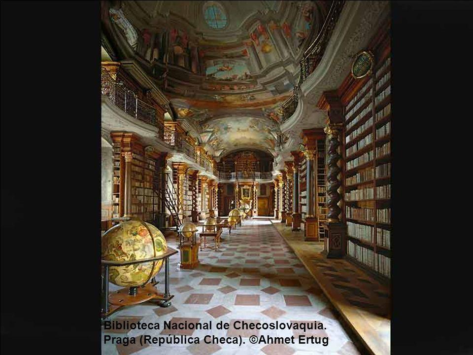 Biblioteca de la abadía de Saint-Gallen (Suiza). ©Ahmet Ertug