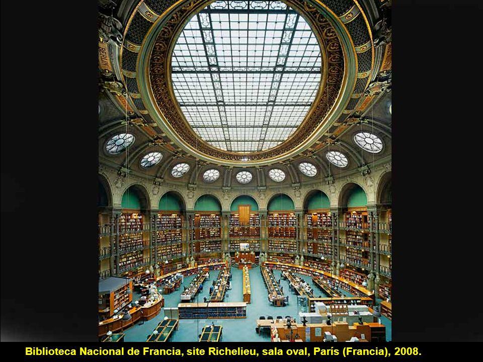 Biblioteca Nacional de Francia, site Richelieu, sala Labrouste, París (Francia), 2008.