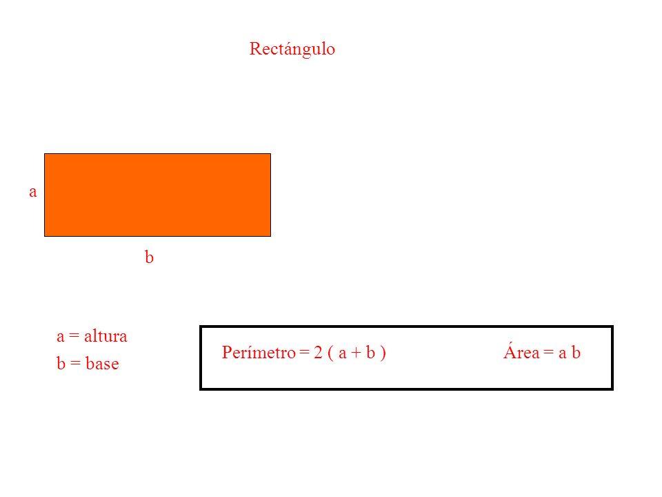 Círculo r Área del círculo = r 2 Longitud de la circunferencia = r