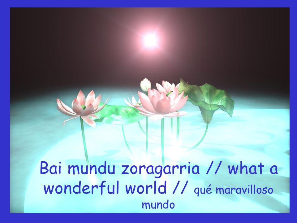 Eta neure baitan egin dut // And I think to myself, Y pensé para mí mismo