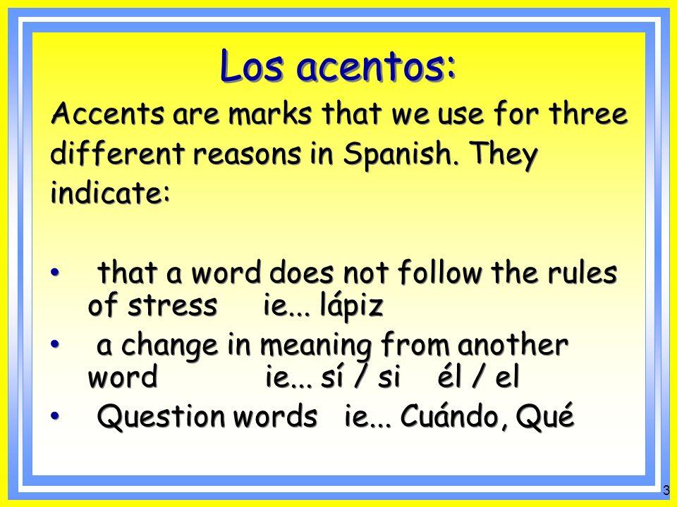 2 Spanish Accents á é í ó ú