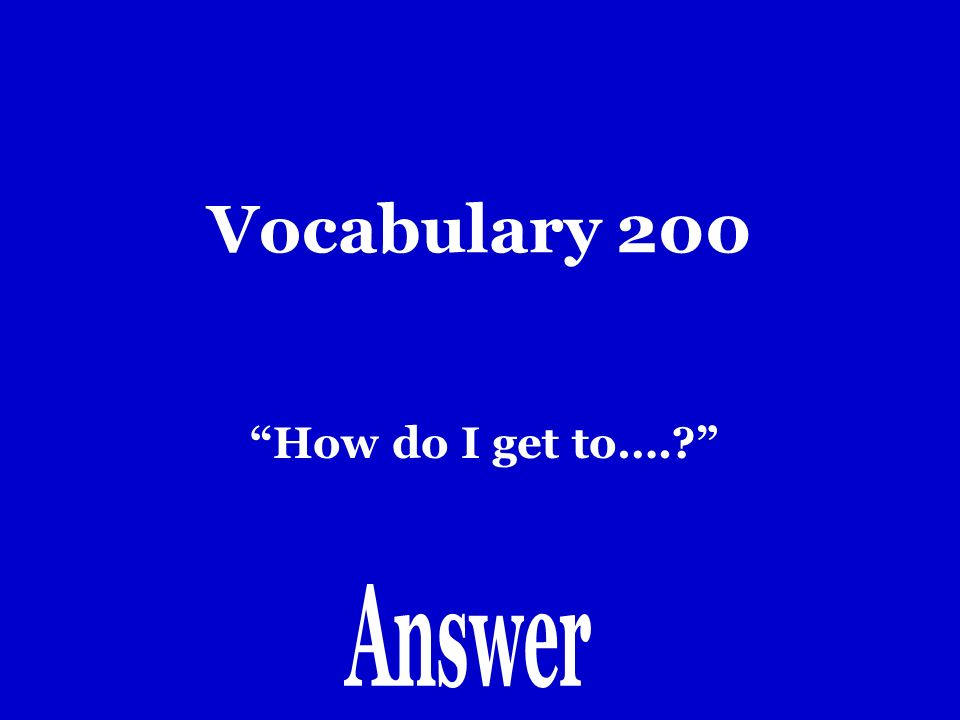 Vocabulary 100 Doblar
