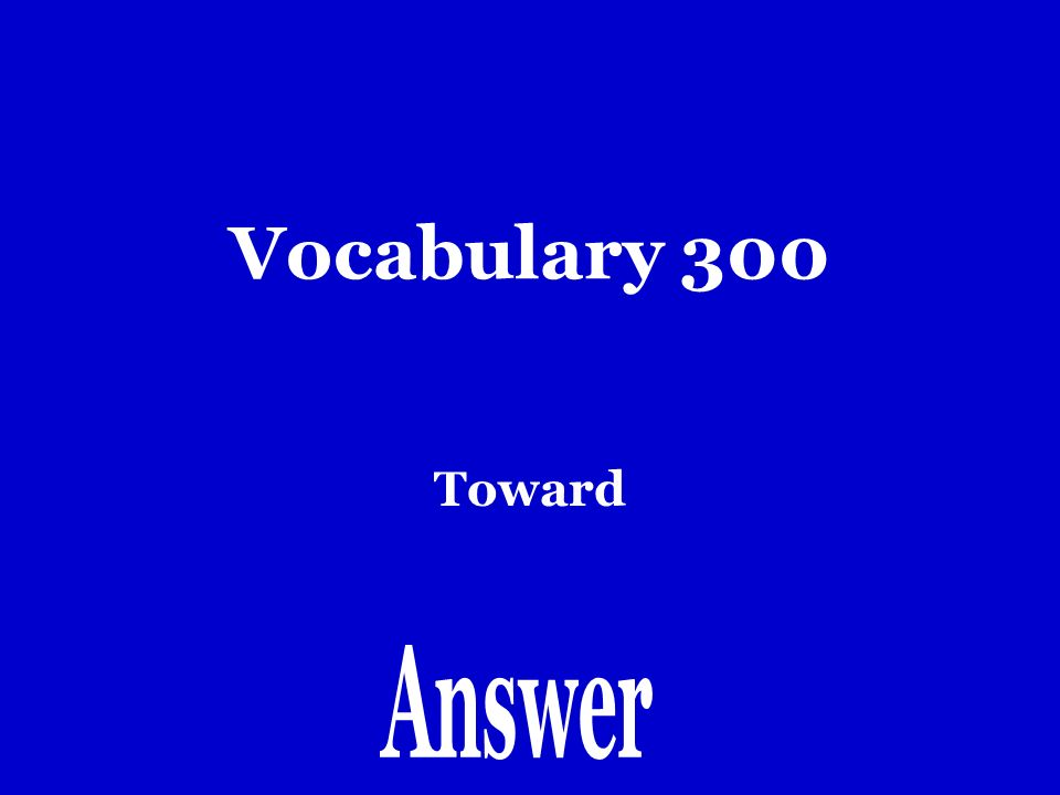 Vocabulary 200 como voy a…