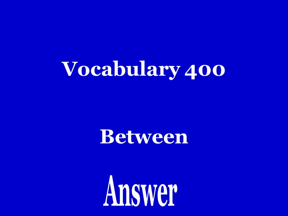Vocabulary 300 Hacia