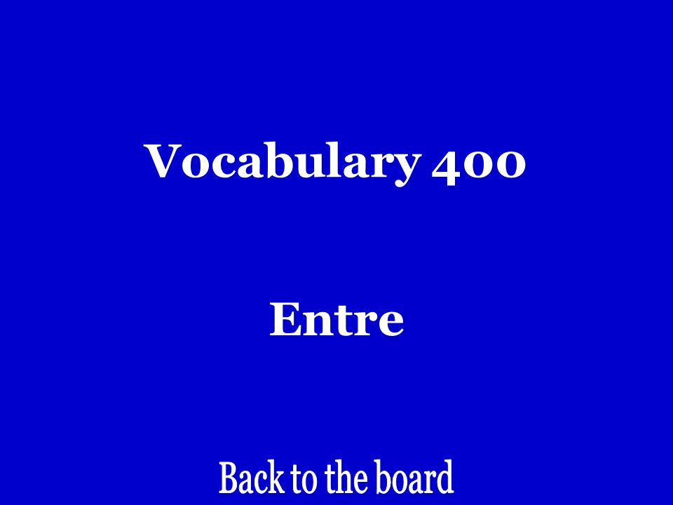 Vocabulary 400 Between