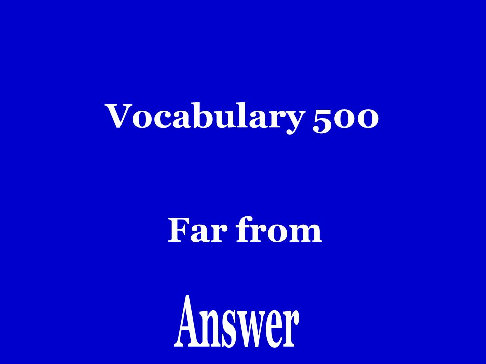 Vocabulary 400 Entre