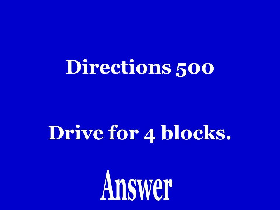 Directions 400 Dobla a la derecha.