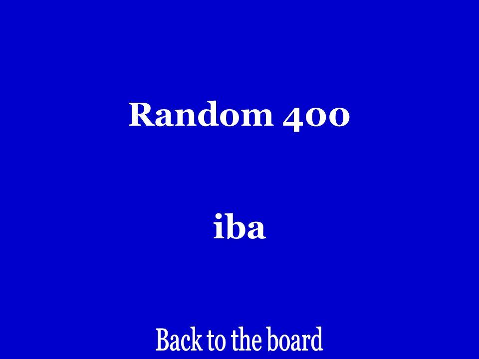 Random 400 Irregular form of IR in the yo verb.