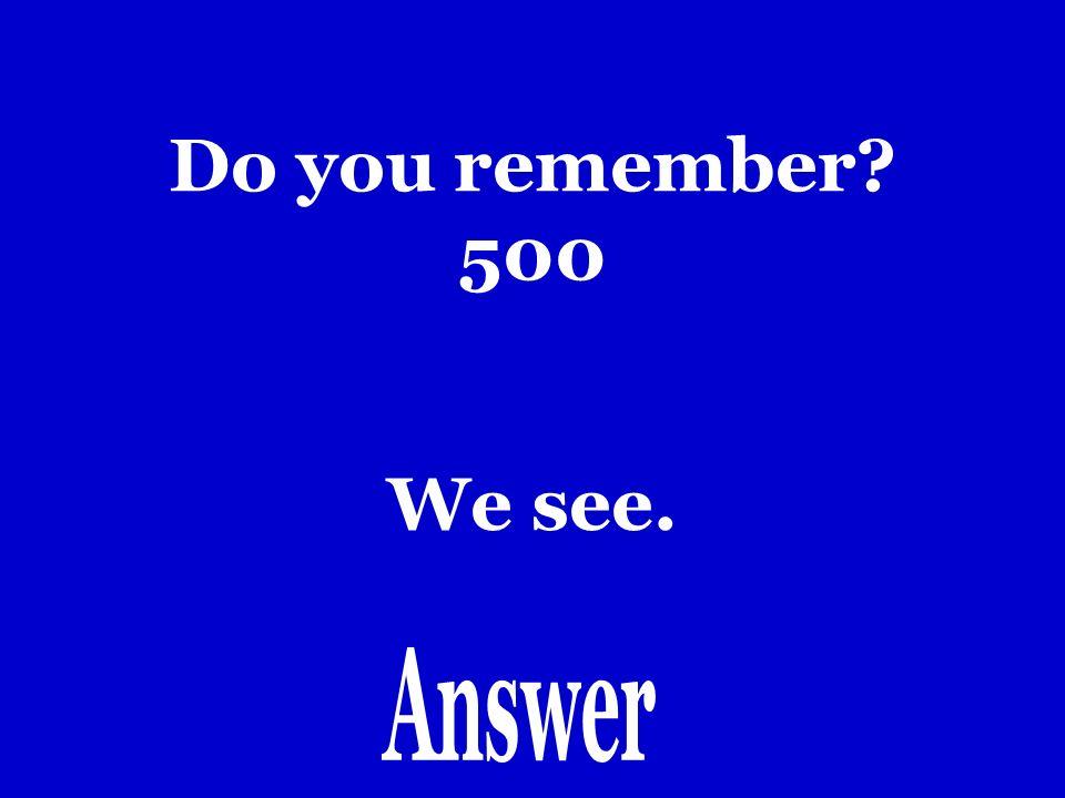 Do you remember 400 Yo hago.