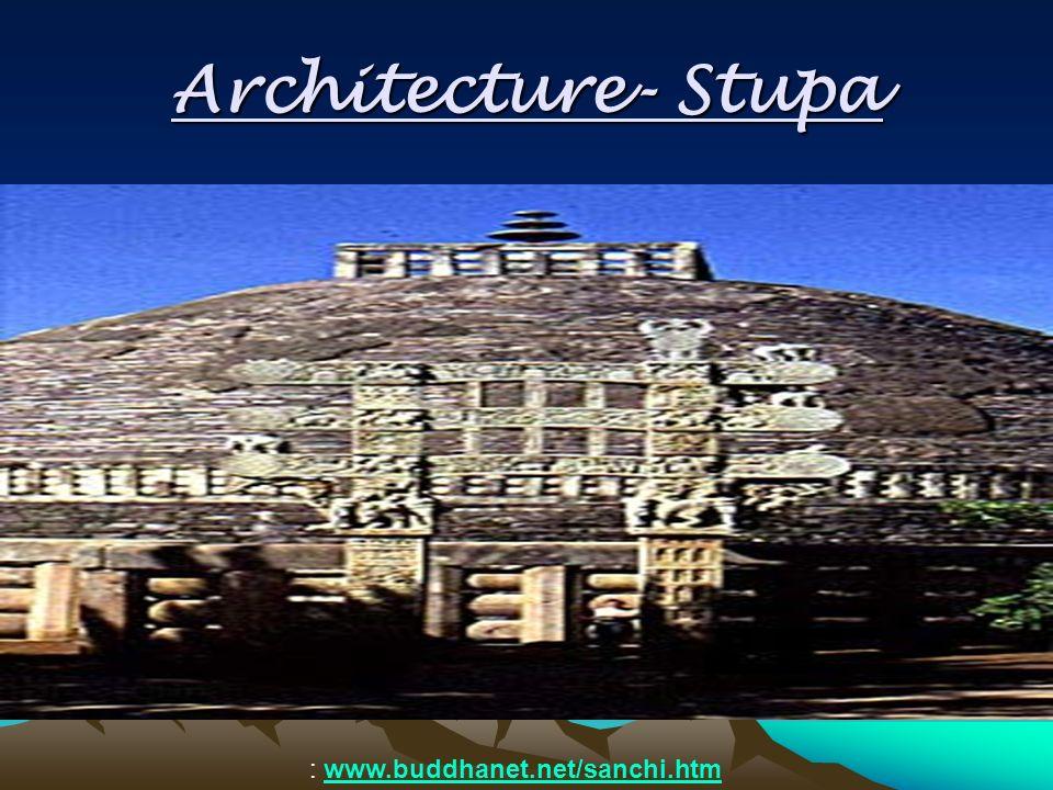Architecture- Stupa : www.buddhanet.net/sanchi.htmwww.buddhanet.net/sanchi.htm