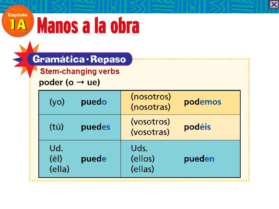 When alguno and ninguno come before a masculine singular noun, they change to algún and ningún.