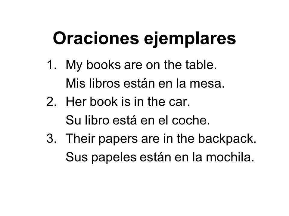 Oraciones ejemplares 4.Our car is in the parking lot.
