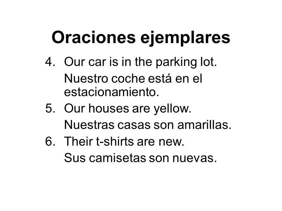 Oraciones ejemplares 7.Their work is excellent.Su trabajo es excellente.