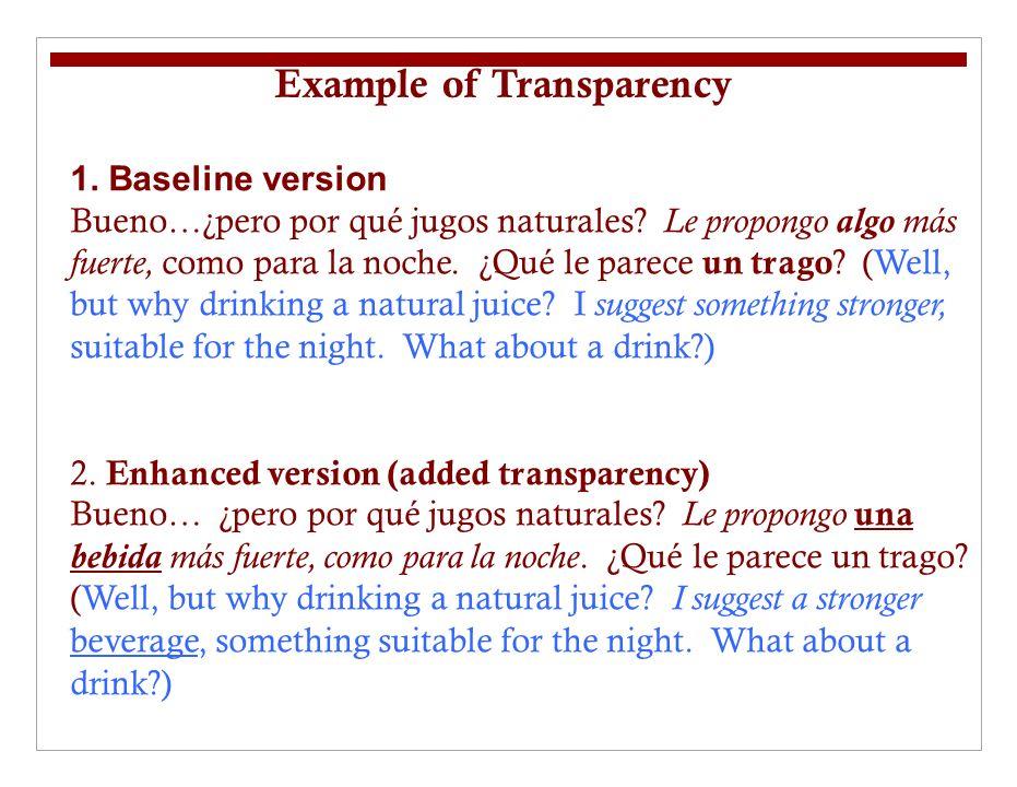 1. Baseline version Bueno…¿pero por qué jugos naturales.