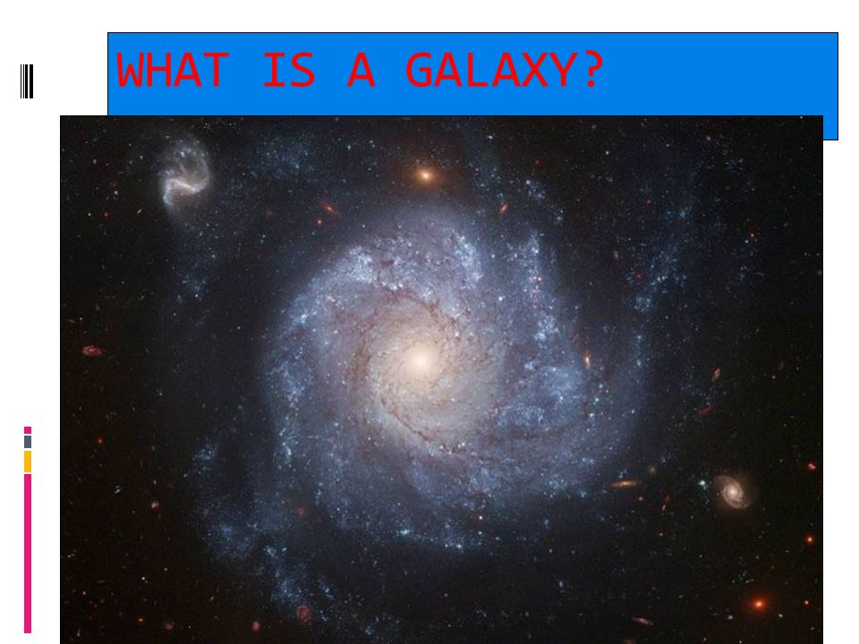 2/06/10 A galaxy is a large group of stars bound together by gravity.
