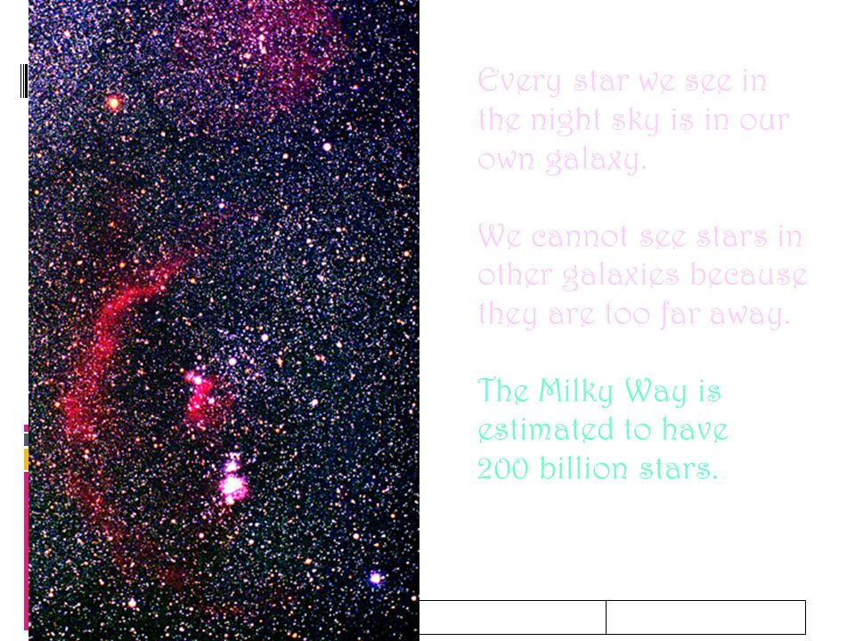 2/06/10 Every star we see in the night sky is in our own galaxy.