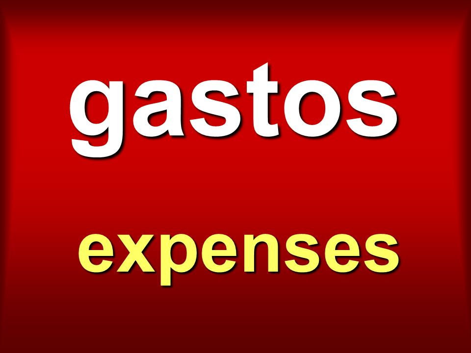 gastos expenses