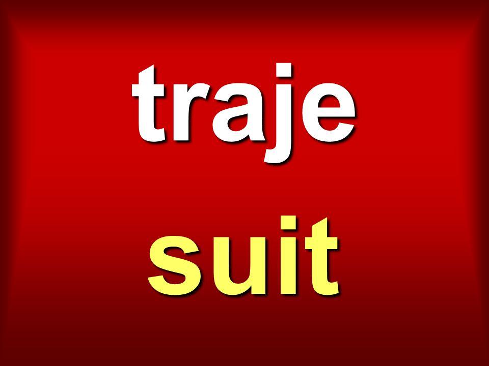 traje suit