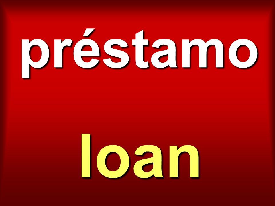 préstamo loan