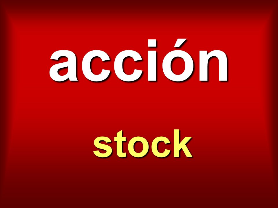 acción stock