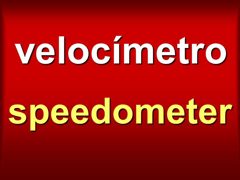 velocímetro speedometer