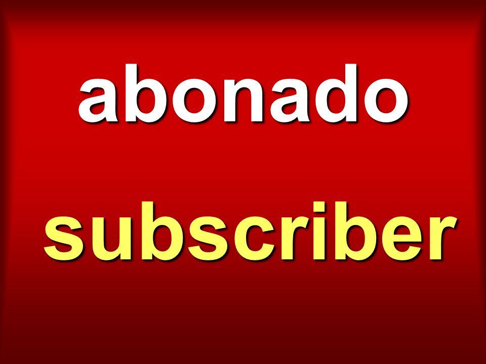 abonado subscriber