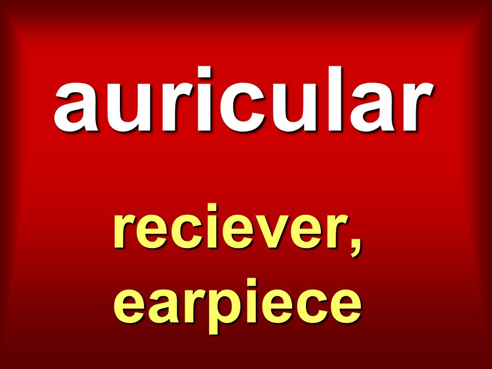 auricular reciever, earpiece