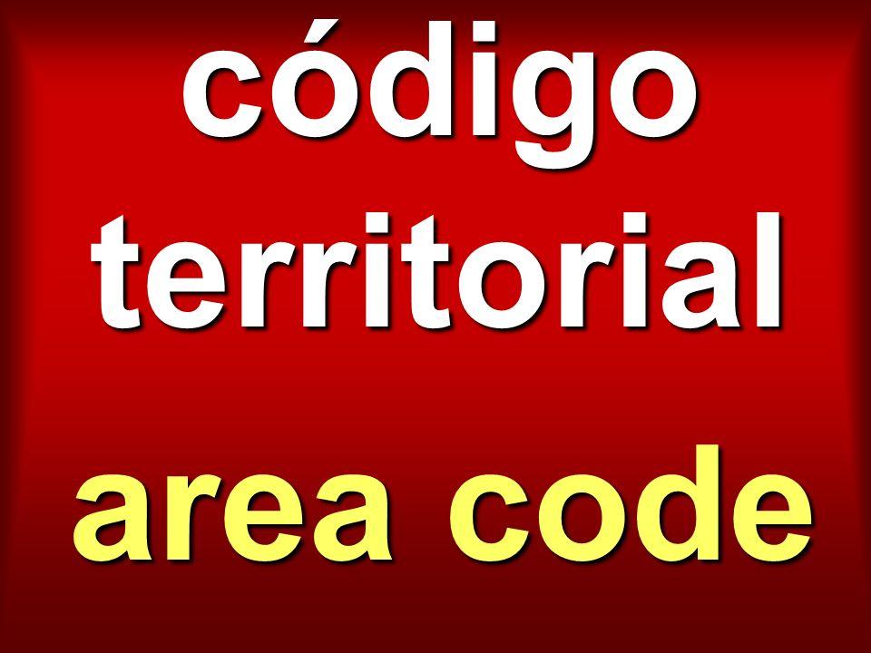código territorial area code