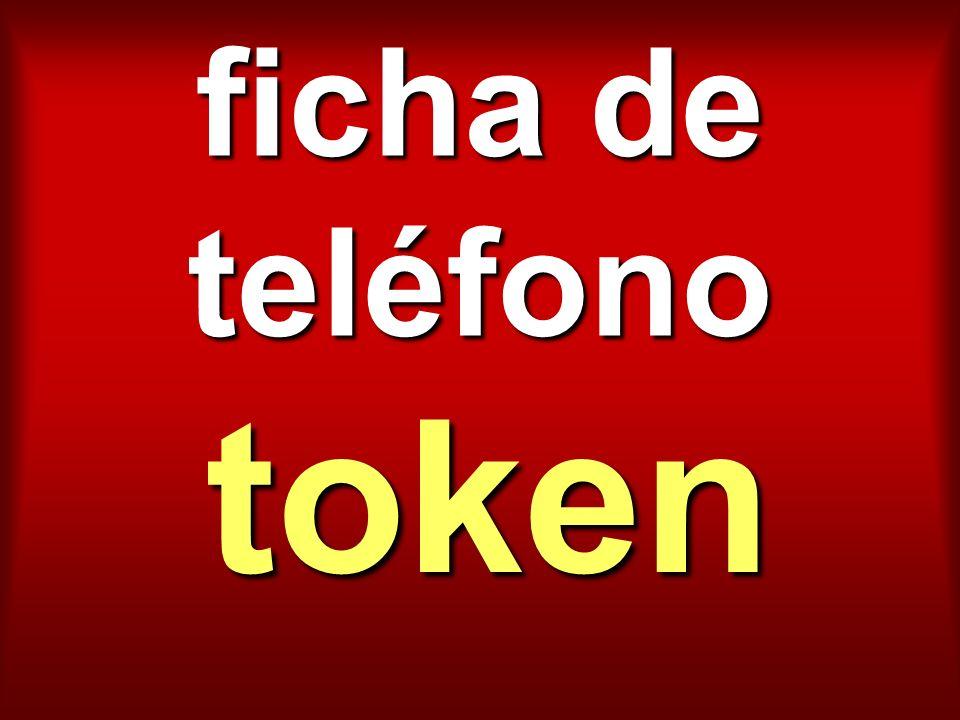 ficha de teléfono token