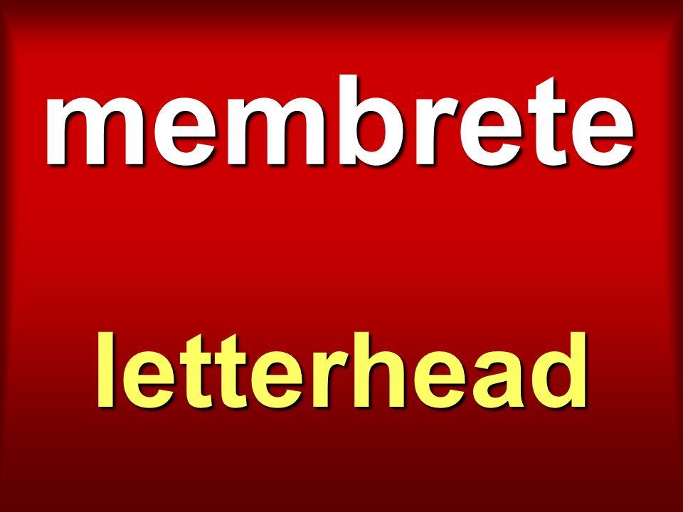 membrete letterhead