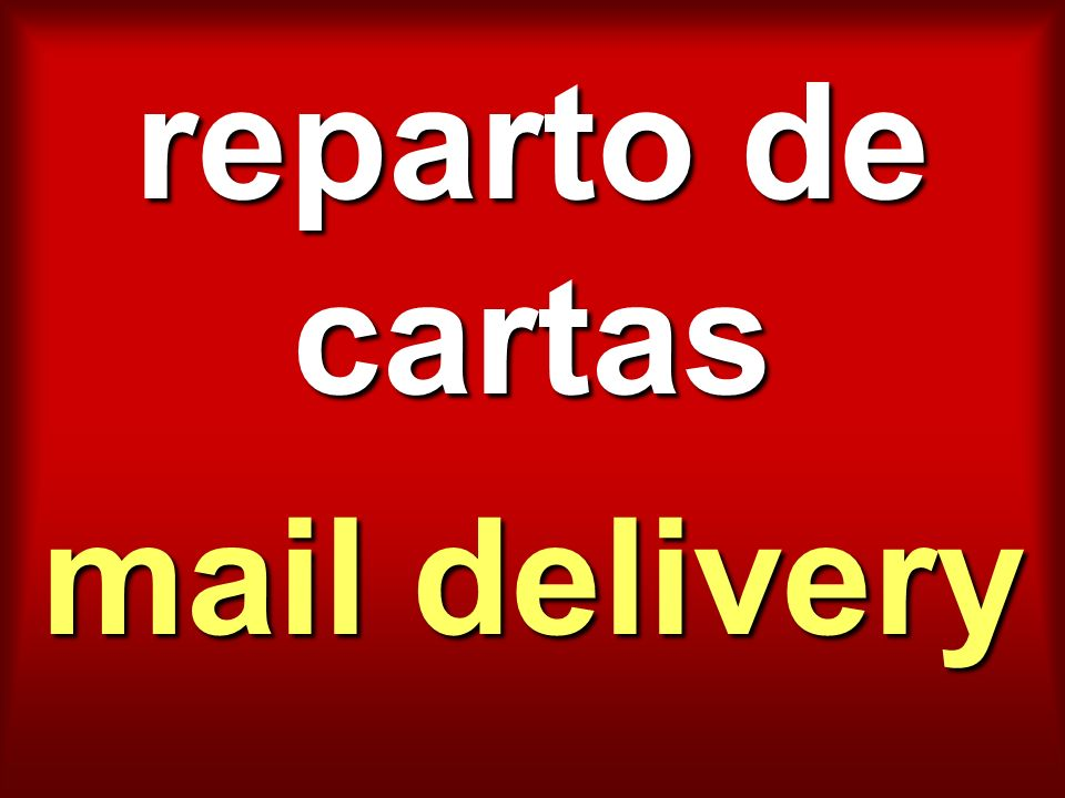reparto de cartas mail delivery