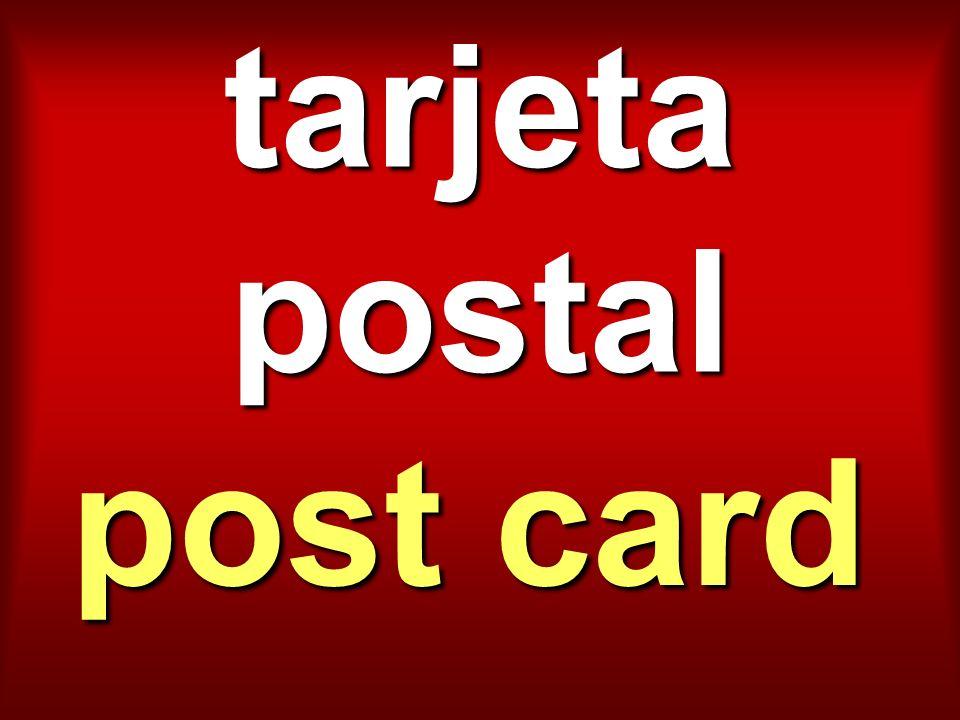 tarjeta postal post card