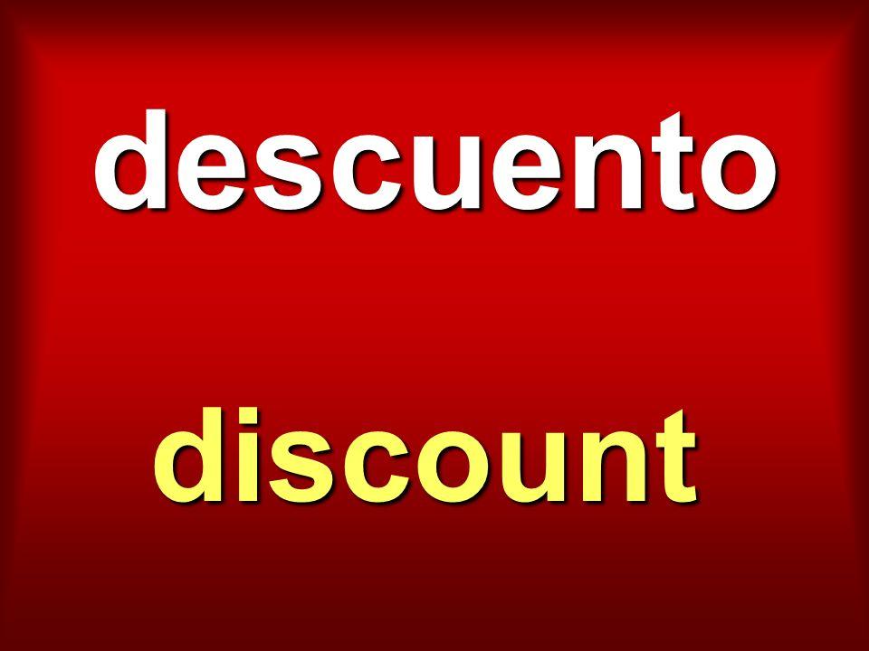 descuento discount