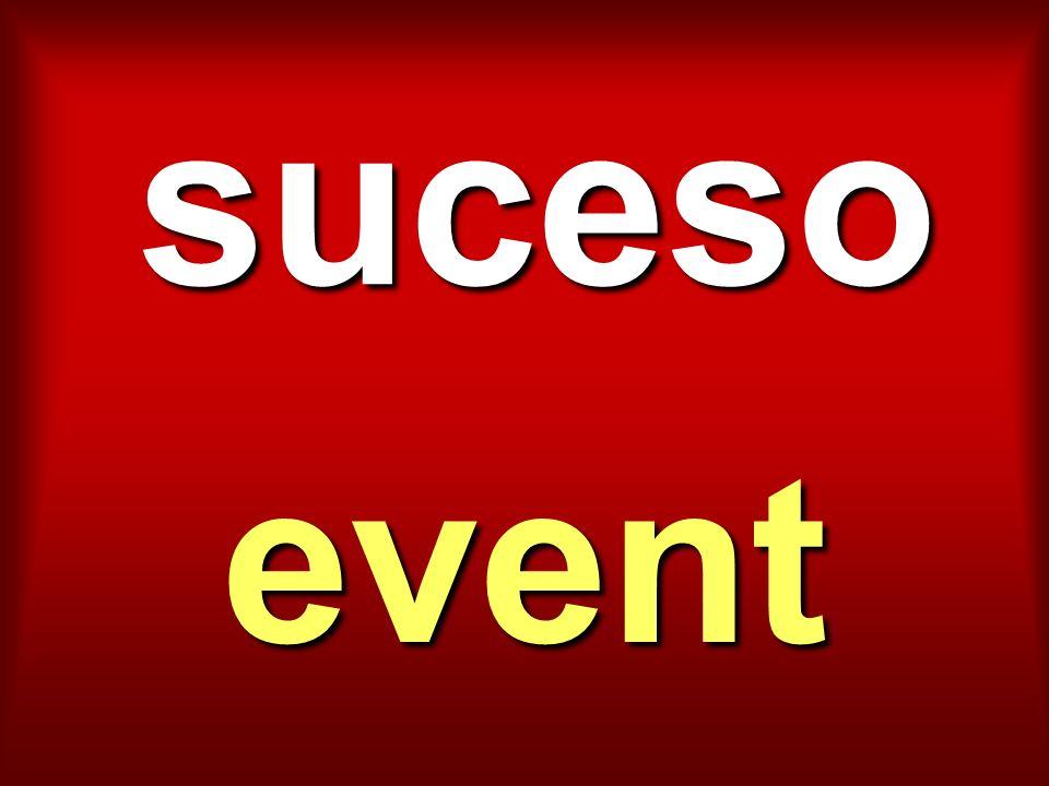 suceso event