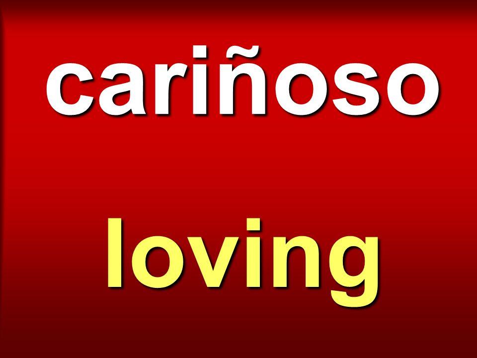 cariñoso loving