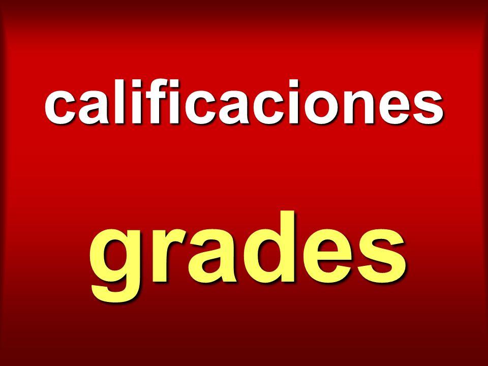 calificaciones grades